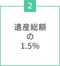 遺産総額の1.5%